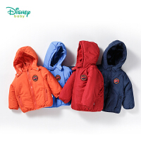 迪士尼Disney秋冬新品保暖夹棉外套男童宝宝连帽棉服154S737