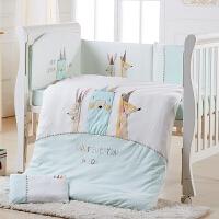 婴儿床上用品婴儿被套棉儿童被罩被褥幼儿园被子三件套a371