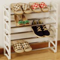 【领券满199-100】ORZ 创意客厅卧室塑料多层实用鞋架 时尚伸缩可叠加鞋子收纳柜