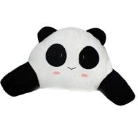汽车头枕可爱卡通护颈枕车用头枕抱枕腰靠套装被靠枕熊猫头枕车饰 黑手臂腰靠 眯眯眼