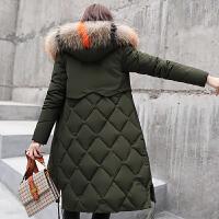 中长款棉衣女2018冬季新款大码过膝韩版加厚羽绒保暖外套棉袄