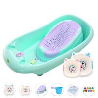 宝宝洗澡盆可坐躺婴儿沐浴盆新生儿防滑儿童加大号通用小孩加厚桶