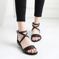 夏季女童凉鞋新款韩版公主鞋大童学生女孩罗马凉鞋