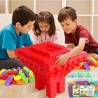 儿童大号颗粒塑料积木益智早教拼装插积木3-6以上周岁玩具180盒装积木