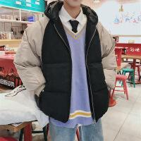№【2019新款】冬天胖子穿的港�L加厚�B帽棉衣男加大�a�W生��松面包服潮男�b外套