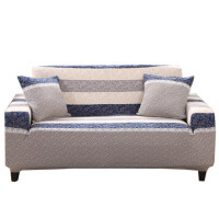沙发套全包全盖沙发罩巾布艺弹力沙发垫组合四季通用简约现代 乳白色 舞动青春