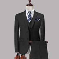 西服套装男士三件套韩版修身职业商务正装西装新郎伴郎结婚礼服秋
