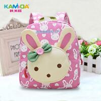 儿童书包韩版可爱宝宝幼儿园书包 男女童女孩1-3-6岁小孩婴儿书包 乖小兔 粉色 1-4岁
