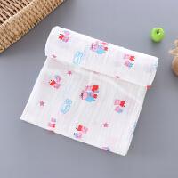 棉纱布浴巾婴儿新生儿纯棉纱布包巾襁褓裹布薄盖毯无荧光剂
