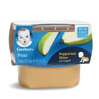 美国进口嘉宝Gerber 1阶段水果味香梨果泥一段 宝宝辅食 无防腐剂