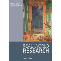 【预订】Real World Research 4E 9781118745236