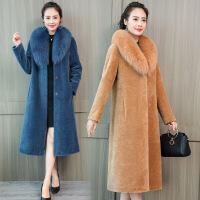 羊剪绒 新品皮草外套女2018冬新品中老年仿狐狸毛领羊毛大衣