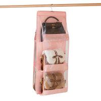 包包收纳神器挂袋布艺衣柜悬挂式防尘袋整理放包包的收纳架子家用 35*90cm