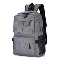 户外旅行双肩包电脑多功能USB背包旅游背包学生书包 灰色 22寸