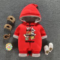 男女宝宝冬装0一1周岁3个月满月6百天婴儿衣服潮款保暖加棉连体衣