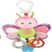 ?婴儿玩具0-1岁宝宝推车挂件床挂床铃 摇铃毛绒布玩具?