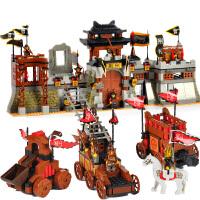 三国积木拼装儿童玩具塑料 军事拼插积木男孩6-8-10-12周岁 三国系列智取荆襄