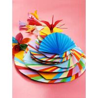 正方形千纸鹤a4彩纸彩色折纸打印纸加厚硬卡纸手工纸多功能材料儿童幼儿园学生大张制作玫瑰花DIY混色美术