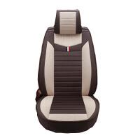 汽车坐垫全包围亚麻布艺座套四季通用可爱卡通小车专用座椅套