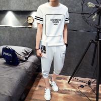 2018新款大童男装夏装短袖-岁胖男孩初中学生青少年男T恤上衣休闲套装