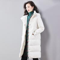【12.12年终狂欢 限时秒杀399元】梵希蔓羽绒服女中长款2018冬季加厚修身连帽白外套