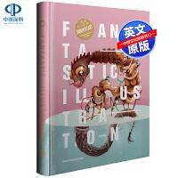 【深图】英文原版 FANTASTIC ILLUSTRATION 5 妙趣插画5 艺术作品手绘电子图案应用插画设计书籍