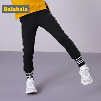 巴拉巴拉女童长裤新款秋冬女大童裤子厚款加绒运动韩版时尚潮