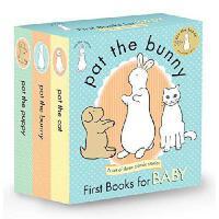 【现货】英文原版 拍拍小兔子三本触摸书套装 Pat the Bunny: First Books for Baby (