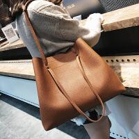 女包2018秋冬新款韩版时尚潮简约百搭手提包单肩大包托特包子母包