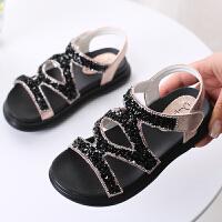 水钻中大童凉鞋软底儿童女鞋舒适防滑小公主鞋潮