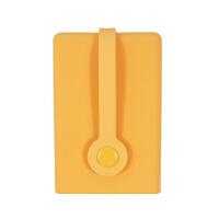 创意多功能硅胶钥匙卡包 可爱大容量抽拉式硅胶钥匙套emo 桔色 磁铁扣