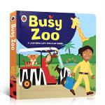【发顺丰】英文原版绘本 Busy Zoo 忙碌的动物园 认知动物单词启蒙 儿童启蒙翻翻书纸板书绘本图画书 Lift-t