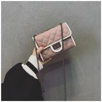 小香风链条包女新款包包潮百搭迷你单肩包女小方包女士斜挎包 粉色
