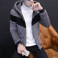 男士外套2018秋冬季韩版加绒加厚PU皮衣夹克男装春秋衣服