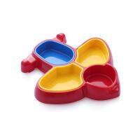 W 宝宝餐具儿童餐具飞机餐盘多格糖果色婴幼儿吃饭餐碗训练碗B31