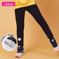 【3折价:126.6】笛莎童装女童打底裤冬装新款中大童儿童加绒加厚款打底裤