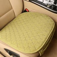 汽车坐垫无靠背小三件套单座单垫亚棉麻防滑免绑四季通用座垫