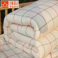 手工新疆棉被冬被纯棉花被子被芯冬季棉絮单人垫被褥双人加厚8斤 纯棉被八斤(秋冬被)
