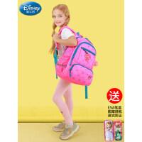 迪士尼书包轻便儿童减负双肩小学生女童1-3-6三年级公主女孩背包5