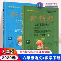 2020春 新领程丛书 新领程小学语文数学六年级下册两本套装 RJ人教版6年级数学语文下册新领程 附带测试卷