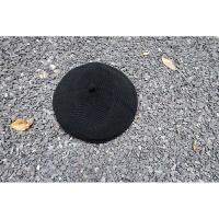 秋冬新款纯色针织毛线贝雷帽女简约纯色画家帽子加厚毛线帽yly M(56-58cm)