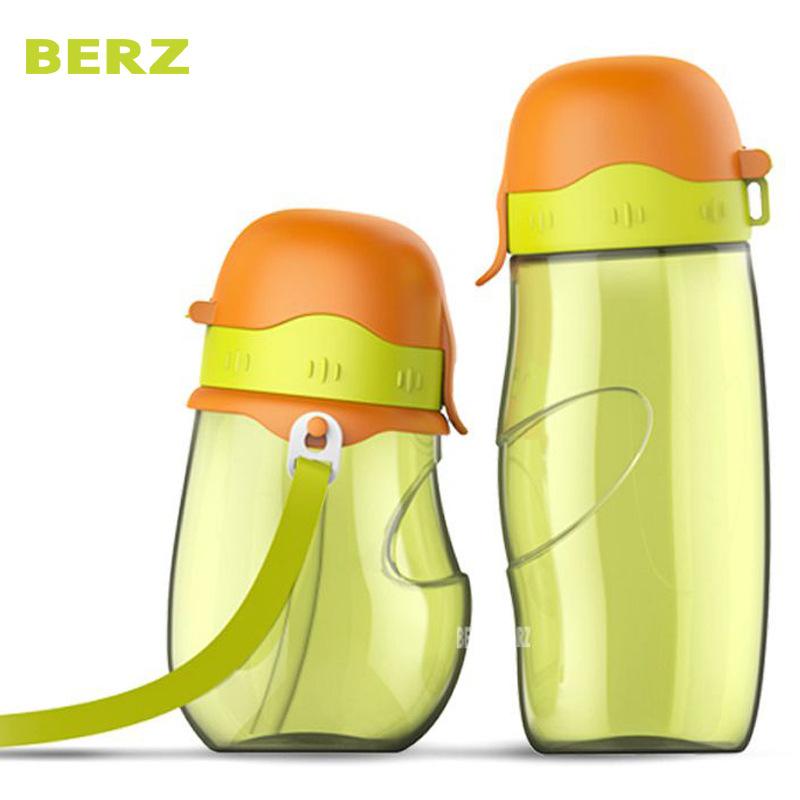 英国BERZ贝氏厂家直销亲子水壶套装儿童学饮手柄吸管杯便携带水壶