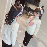 女童毛衣2018新款秋装潮衣儿童韩版圆领针织衫小女孩秋冬季打底衫