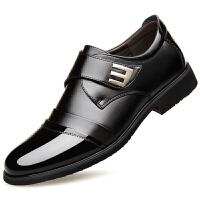 皮鞋男真皮商务秋季男鞋英伦新款韩版休闲青年黑色正装男士小皮鞋