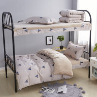 冬季学生珊瑚绒床单三件套床上用品男宿舍单人寝室法兰绒保暖被套