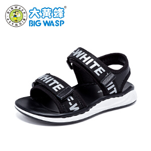 大黄蜂童鞋 2018夏季新款男童休闲沙滩凉鞋小孩小童防滑韩版3-6岁