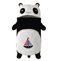 婴儿睡袋冬款宝宝睡袋防踢被子新生儿童保暖蚕茧睡袋秋冬季加厚款 黑色 熊猫加厚睡袋