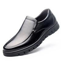男士皮鞋男商务休闲真皮老人鞋中老年保暖冬季加绒爸爸鞋棉鞋真皮