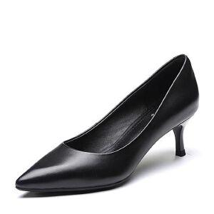 Tata/他她2018春专柜同款牛皮革尖头猫跟鞋细高跟女单鞋FLH01AQ8