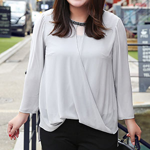 MsShe加肥大码女装2017新款胖mm优雅钉珠雪纺衫胖妹妹M1710026